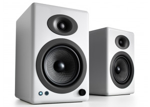 Audioengine A5+ Wireless Blanc - enceintes actives 2 x 50 Watts et réception Bluetooth