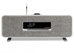Ruark Audio R3 Soft Grey - Chaîne HiFi triple tuner radio Internet/DAB/FM avec lecteur CD et réception Bluetooth