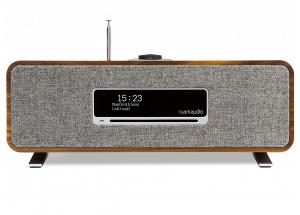 Ruark Audio R3 Noyer - Chaîne HiFi triple tuner radio Internet/DAB/FM avec lecteur CD et réception Bluetooth