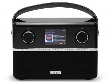 Poste de radio WiFi Internet, DAB, FM, Bluetooth, compatible Deezer, Spotify, Tidal, Amazon, réception Bluetooth. Chargeur de piles intégrés