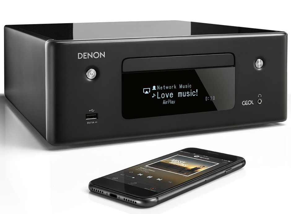 Lecteur réseau WiFi  Denon CEOL RCD N11 : HEOS, AirPlay 2, DLNA, Lecteur CD, FM et DAB+