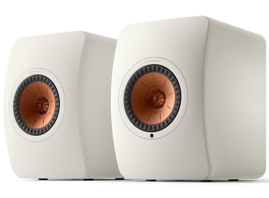 KEF LS50 Wireless II Blanc mat - Paire d'enceintes connectées et sans fil WiFi, AirPlay 2, Chromecast, Bluetooth, Roon