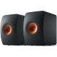 KEF LS50 Wireless II Noir mat - Enceintes actives design contemporain