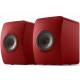 KEF LS50 Wireless II Rouge laqué - Enceintes actives format bibliothèques