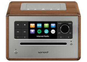 Sonoro ELITE  Bois  - Poste de radio Internet, FM et RNT/DAB avec réception Bluetooth et Wifi