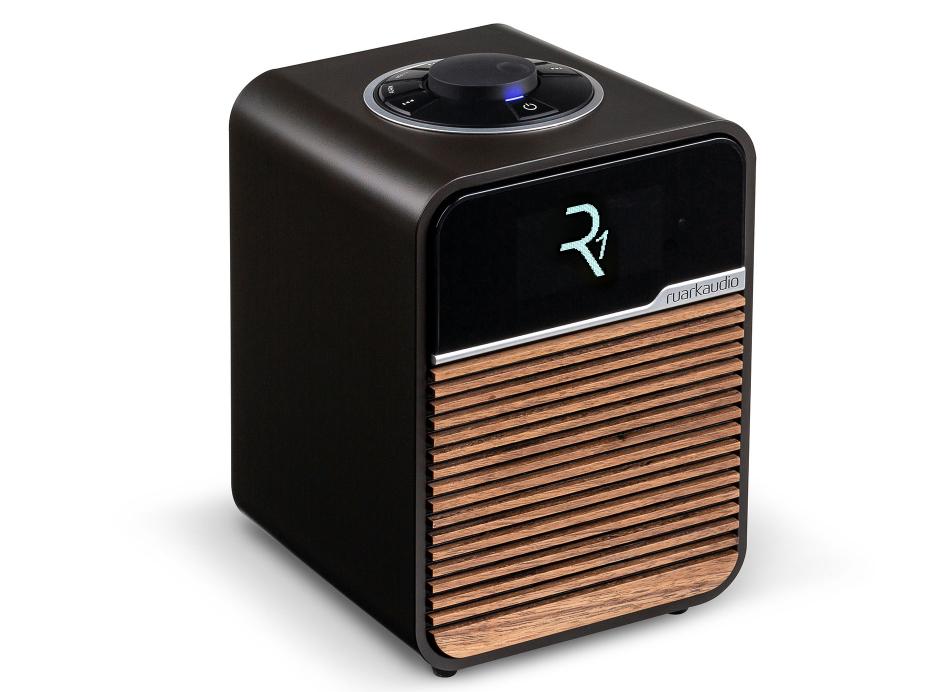 Ruark Audio R1 MKIV Expresso - Poste de radio DAB/DAB+, FM et Bluetooth et port USB de lecture
