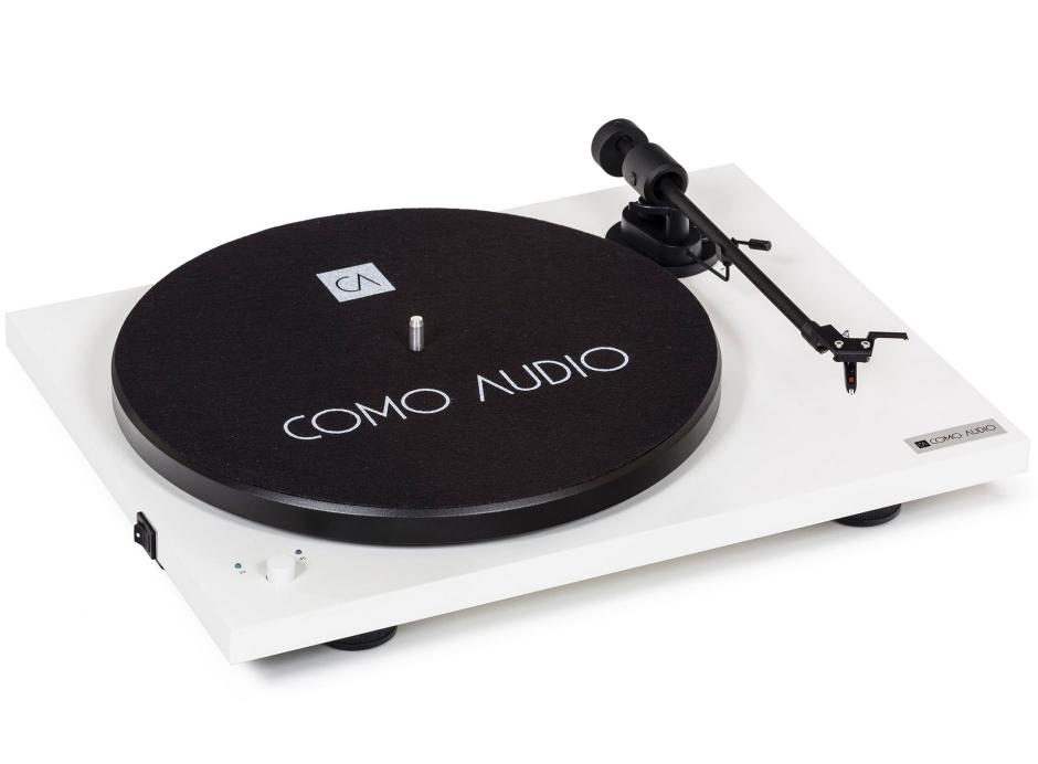 Como Audio Platine : Platine Vinyle Bluetooth avec préamplification phono compatible 33 / 45 / 78 tours
