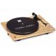 Como Audio Platine Chêne - Platine vinyle Bluetooth et préamplification phono intégré