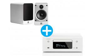 Denon CEOL RCD N11 DAB + Enceintes Q Acoustic Concept 20 Blanc