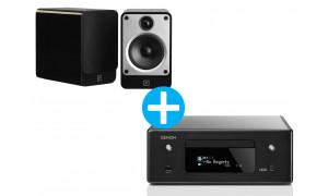 Denon CEOL RCD N11 DAB + Enceintes Q Acoustic Concept 20 Noir