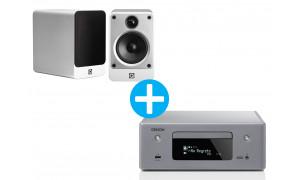 Denon CEOL RCD N11 DAB  Gris + Enceintes Q Acoustic Concept 20 Blanc