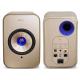 KEF LSX Wireless Soundwave - Entrées numérique optique et analogique auxiliaire 3.5 mm