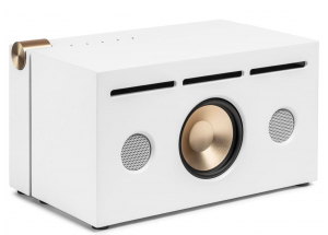 La boite concept PR/01 Blanc - enceinte puissante de 240 Watts avec caisson en bois naturel
