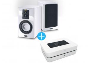 Bluesound Powernode 2i Blanc + Magnat Signature 703 Blanc