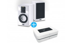 Bluesound Powernode 2i + Enceintes Magnat Signature 703 Blanc