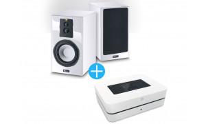 Bluesound Powernode 2i + Enceintes Magnat Signature 703 Blanc