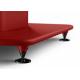 KEF S2 floor stand Rouge - Un système de passe câble intégré dans la colonne de chaque pied