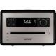 Sonoro QUBO  Noir - Poste de radio avec lecteur CD intégré facile à utiliser grâce à son large écran couleur lecteur CD