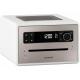Sonoro QUBO Blanc - Poste de radio numérique FM et RNT/DAB+ avec réception Bluetooth