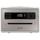 Sonoro QUBO Blanc - Poste de radio avec lecteur CD intégré facile à utiliser grâce à son large écran couleur lecteur CD