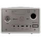 Sonoro QUBO Blanc - Poste de radio entrée USB, mini-jack, sortie casque audio