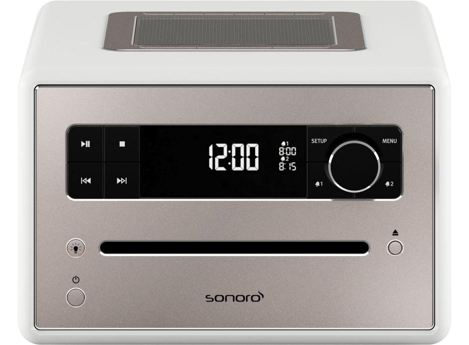 Sonoro QUBO - Poste de radio avec lecteur CD intégré facile à utiliser grâce à son large écran couleur lecteur CD