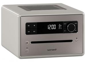 Sonoro QUBO Gris - Poste de radio numérique FM et RNT/DAB+ avec réception Bluetooth