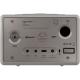 Sonoro QUBO Gris - Poste de radio entrée USB, mini-jack, sortie casque audio