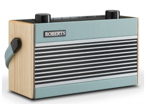 Roberts Rambler BT Pastel Bleu - Poste de radio DAB+ / FM vintage en passant par le Bluetooth