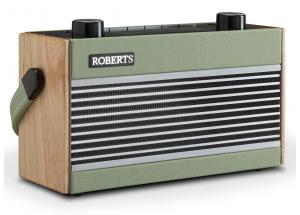 Roberts Rambler BT Pastel Vert - Poste de radio DAB+ / FM vintage en passant par le Bluetooth