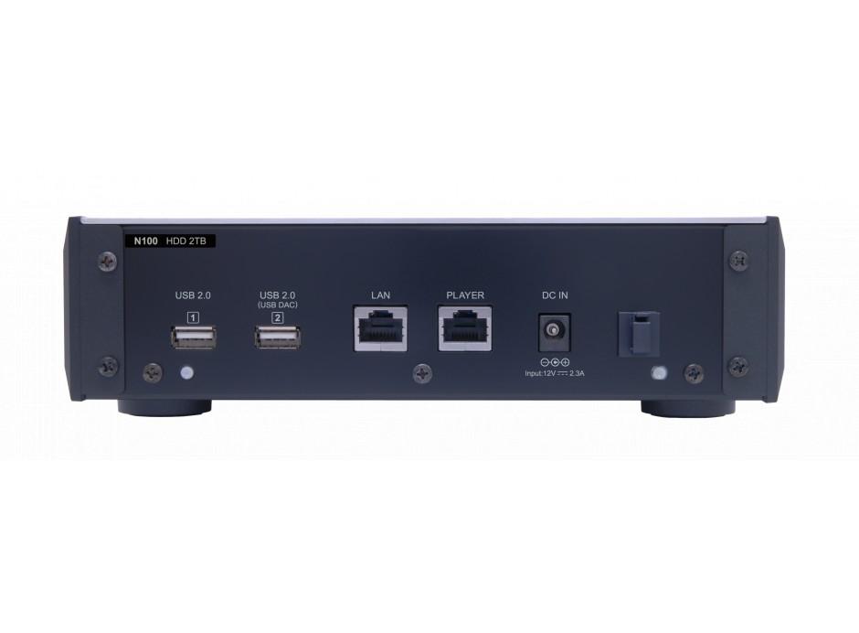 Melco N100 - les connectiques audio numériques pour le DAC USB et le lecteur CD D100