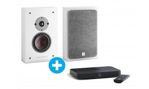 Dali Sound Hub Compact + Dali Oberon On-Wall C Blanc