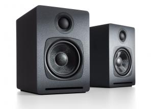 Audioengine A1 Wireless Gris - Enceintes actives 2 x 15 Watt avec récepteur Bluetooth