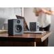 Audioengine A1 Wireless Gris - de petite taille, parfaitement adaptées pour un bureau ou un meuble.