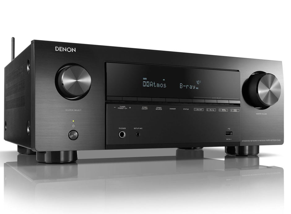 Denon AVR-X2700H DAB - Amplificateur AV 8K à 7.2 canaux avec audio 3D, HEOS intégré et contrôle vocal