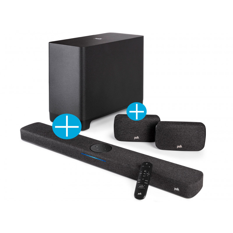 Polk Audio React Soundbar + Sub + SR2