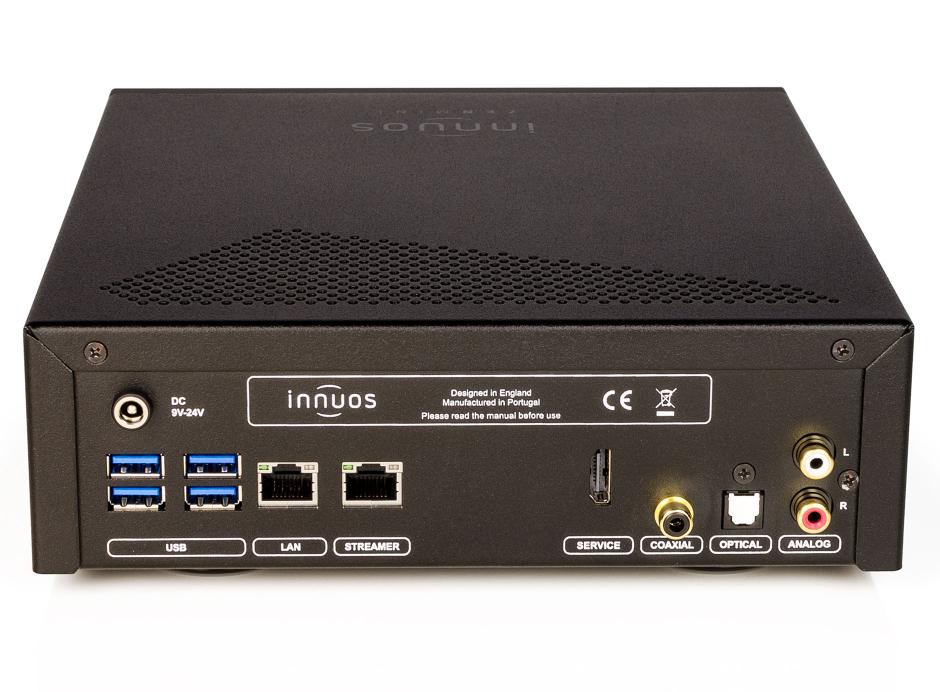 Innuos ZENMini Mk3 - Sorties numériques USB, optique et coaxial et sortie analogique RCA