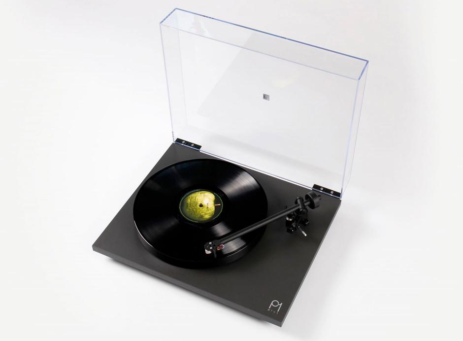 Rega Planar 1 Plus Noir Mat - Platine vinyle préamplifiée pour 33 et 45 tours