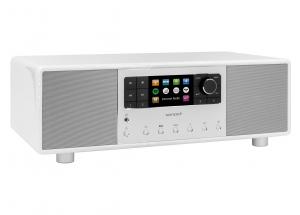 Sonoro PRIMUS Blanc laqué - Mini-chaîne HiFi tout-en-un Internet/FM/DAB Bluetooth aptX