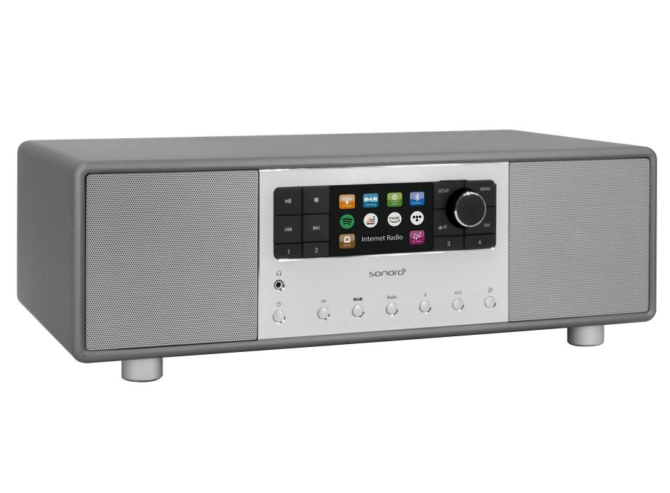 Sonoro PRIMUS - Mini-chaîne HiFi tout-en-un Internet/FM/DAB Bluetooth aptX
