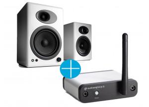 Audioengine A5+ Blanc + Audioengine B-Fi