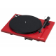 Pro-Ject Essential III Phono Rouge - Platine vinyle chassis en MDP