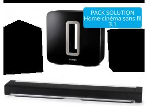 home cin ma sans fil avec des enceintes sans fil wifi la. Black Bedroom Furniture Sets. Home Design Ideas
