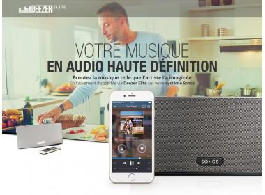 Abonnement Deezer HiFi pour Sonos
