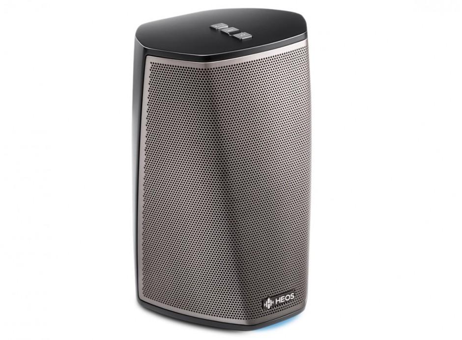 Denon Heos 1 HS2 enceinte wifi connectée sans fil Bluetooth compatible Spotify Deezer Tidal Amazon Music qualité HD