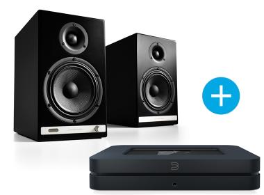 Bluesound NODE 2  et Audioengine HD6 noir