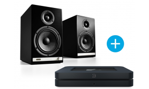 Bluesound NODE 2  et Audioengine HD6 noir