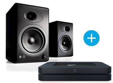 Bluesound NODE 2  et Audioengine A5+ noir