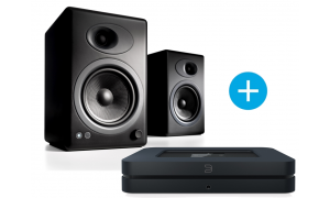 Bluesound NODE 2  et Audioengine A5+ noir