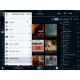 SOtM sMS-200 - Interface de commande iPeng sur iPad avec toutes les Squeezebox en multiroom